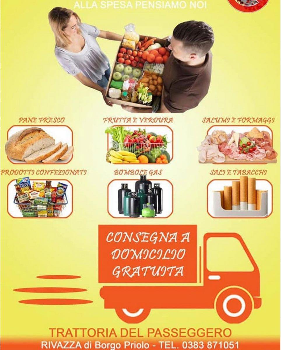 TRATTORIA DEL PASSEGGERO, RIVAZZA DI BORGO PRIOLO // generi alimentari, pane, frutta, verdura, bombole gas, tabacchi