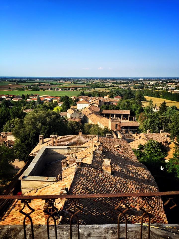 Vista sui tetti del castello